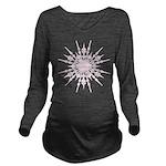 Snowflake Pink Long Sleeve Maternity T-Shirt
