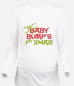 Baby Bumps 1st Xmas Long Sleeve Maternity T-Shirt