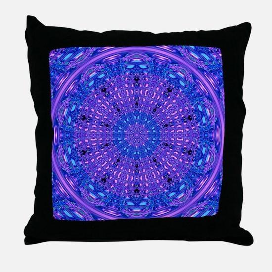 Ripple Effect (Purple) Throw Pillow