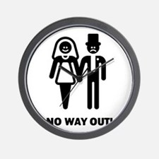 No Way Out! (Stag Night / Bachelor Part Wall Clock