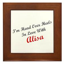 In Love with Alisa Framed Tile