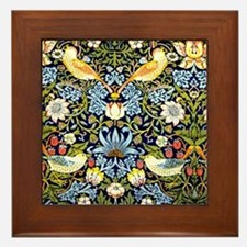 William Morris design - Strawberry Thi Framed Tile