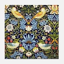 William Morris design - Strawberry Th Tile Coaster