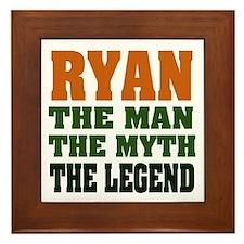 RYAN - the legend! Framed Tile