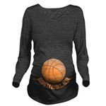Basketball Smuggler Long Sleeve Maternity T-Shirt