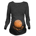 Basketball Smuggler Long Sleeve Maternity T-Shirt