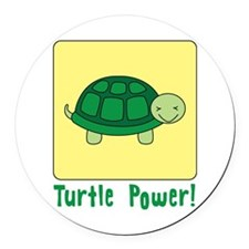 Turtle Power Round Car Magnet