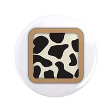 "Cow Skin Cow Pattern 3.5"" Button (100 pack)"