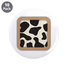 """Cow Skin Cow Pattern 3.5"""" Button (10 pack)"""