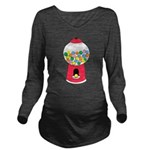 Bubble Gum Long Sleeve Maternity T-Shirt