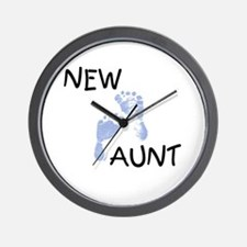 New Aunt (blue) Wall Clock