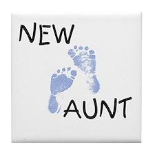 New Aunt (blue) Tile Coaster