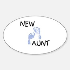 New Aunt (blue) Oval Bumper Stickers