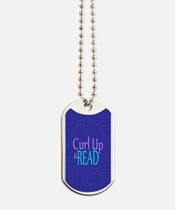 Curl Up and Read Dog Tags