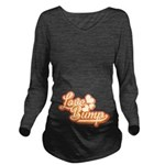Love Bump Orange Long Sleeve Maternity T-Shirt