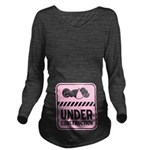 Under Construction Baby Pink Long Sleeve Maternity