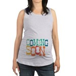 Bouncy Coming Soon Maternity Tank Top