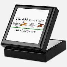 65 dog years birthday 2 Keepsake Box