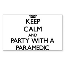 Keep Calm and Party With a Paramedic Decal