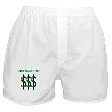 Custom Dollar Signs Boxer Shorts