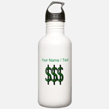 Custom Dollar Signs Water Bottle