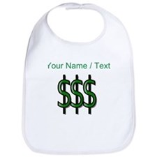Custom Dollar Signs Bib