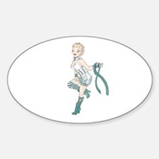 PCOS Pin Up Gal Decal