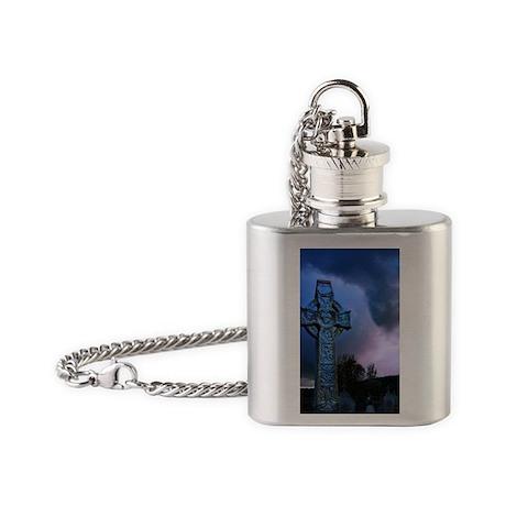 Celtic Blue Flask Necklace