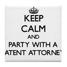 Keep Calm and Party With a Patent Attorney Tile Co