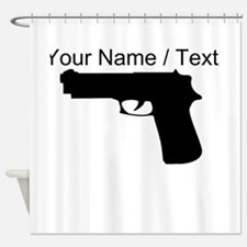 Custom Gun Silhouette Shower Curtain