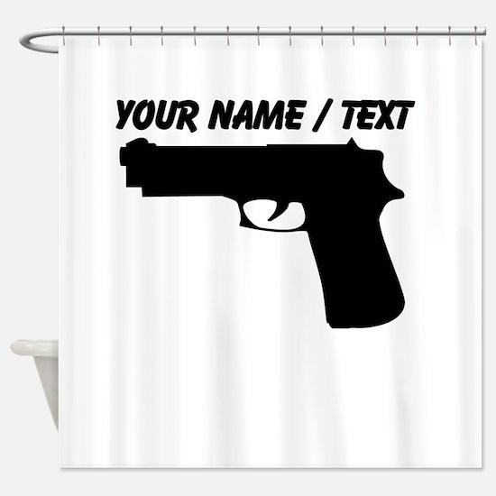 Custom Gun Silhouette Shower Curtain