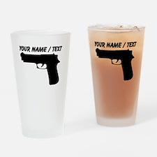 Custom Gun Silhouette Drinking Glass