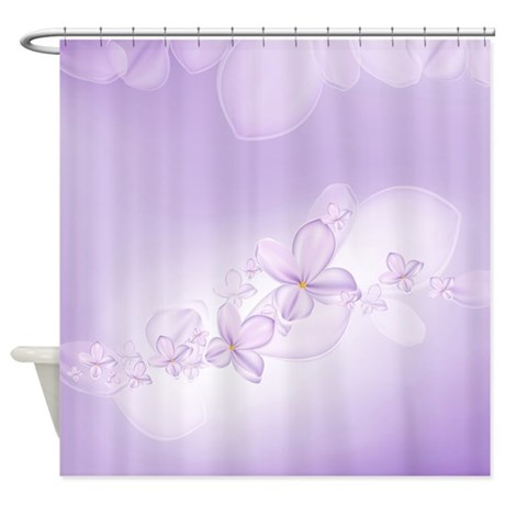 Soft Lilac Flowers Shower Curtain By ShowerCurtainShop