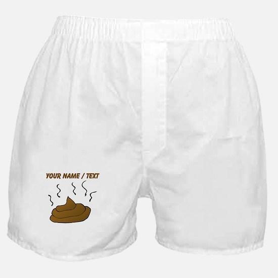 Custom Poop Boxer Shorts