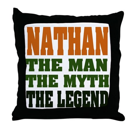 NATHAN - the legend! Throw Pillow