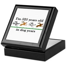75 dog years birthday 2 Keepsake Box