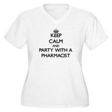 Keep Calm and Party With a Pharmacist Plus Size T-