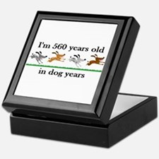 80 dog years birthday 2 Keepsake Box