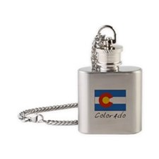 Colorado (State Flag) Flask Necklace