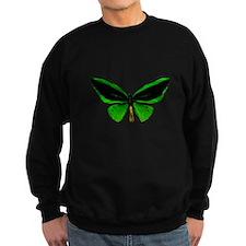 green butterfly Sweatshirt