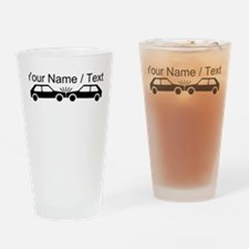 Custom Car Accident Drinking Glass