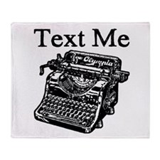 Text Me-Typewriter-1 Throw Blanket