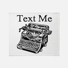 Text Me-Typewriter-1 Throw Blanket