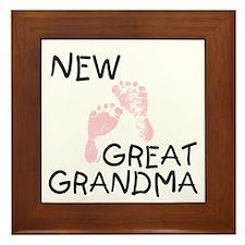 New Great Grandma (pink) Framed Tile
