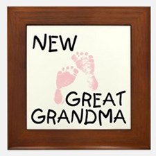 New Great Grandma (pink) Framed Tile