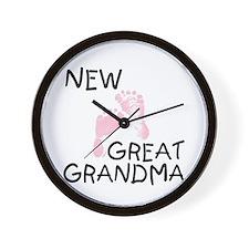 New Great Grandma (pink) Wall Clock
