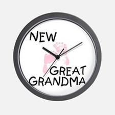 New Great Grandma (pink) Wall Clock