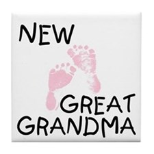 New Great Grandma (pink) Tile Coaster