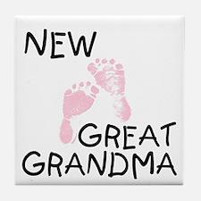 New Great Grandma (pink) Tile Coaster
