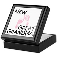 New Great Grandma (pink) Keepsake Box